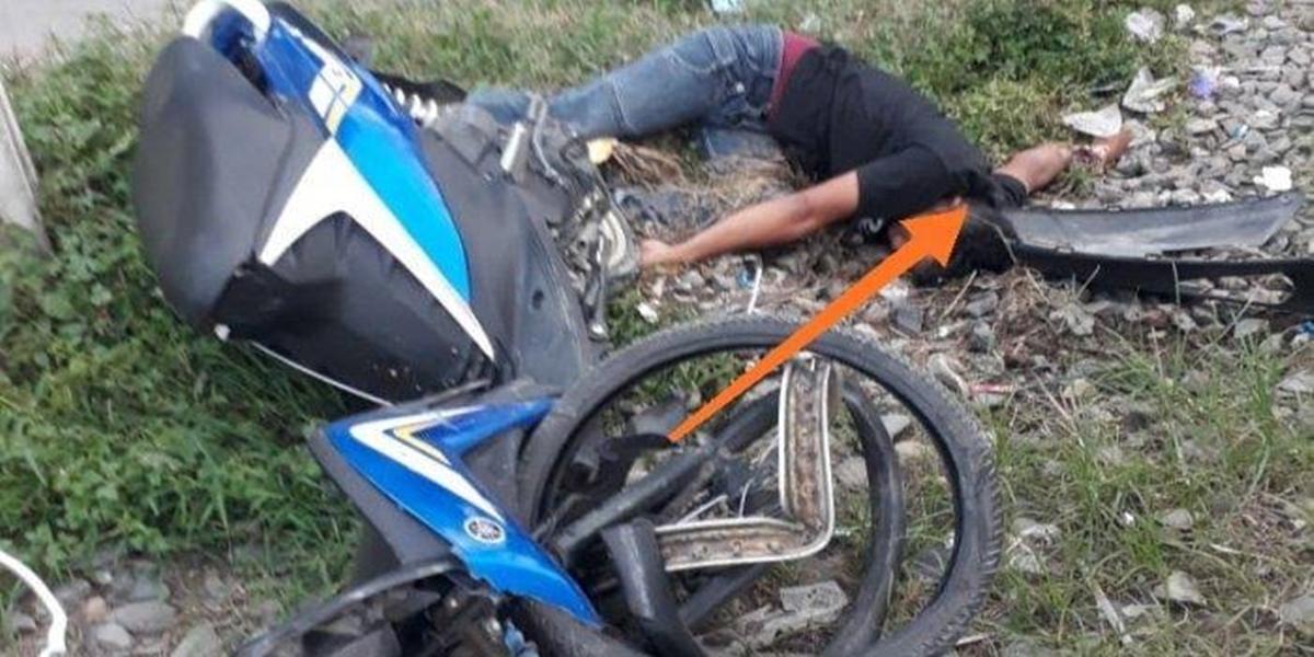 Diduga melawan arus dan menerobos plang pintu kereta api di perlintasan Medan-Batangkuis, sekeluarga ditabrak kereta api, Minggu (8/12/2019).